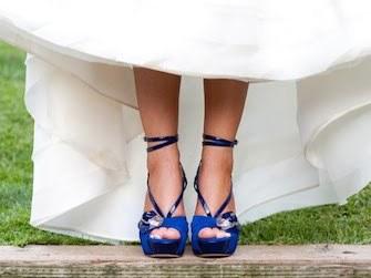 Scarpe Sposa Blu.Scarpe Da Sposa Colorate E Glam Donne Sul Web