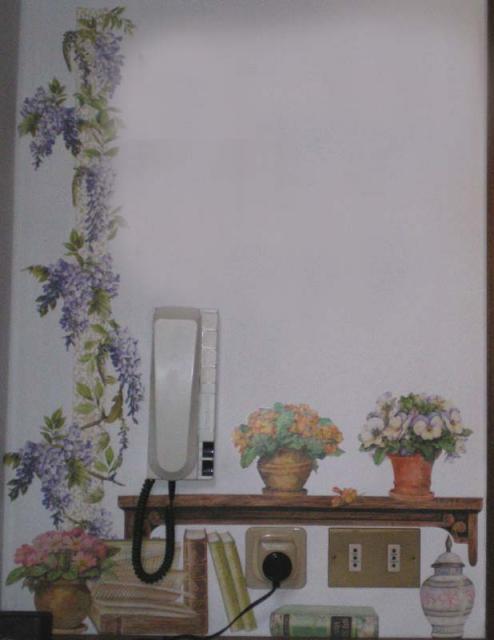 Casa immobiliare accessori decoupage su pareti - Tecnica per decorare pareti ...