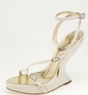 Sandali con zeppabianchi di Penrose