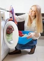 donna panni lavatrice