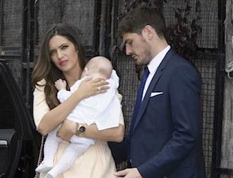 Il battesimo di Martin figlio di Casillas Carbonero. Foto