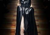 Lanvin abito bustier in pelle nera