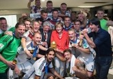 Merkel calciatori spogliatoio