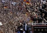 Festa calciatori tedeschi coppa del mondo