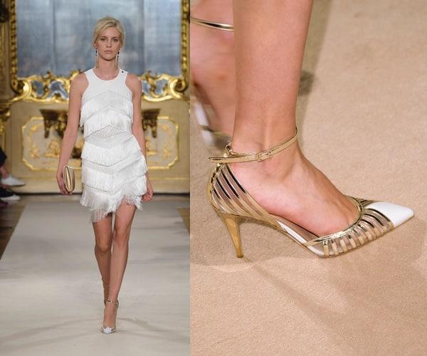 scarpe sposa oro