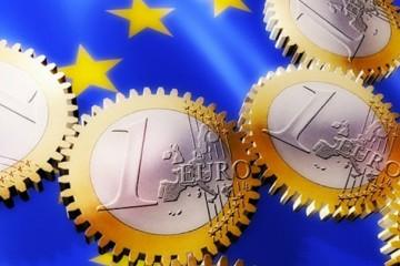 Euro Coins as Gears --- Image by © Matthias Kulka/Corbis