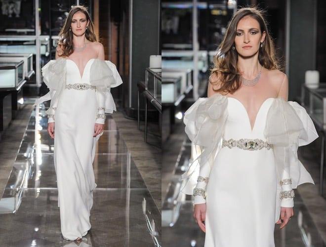 sports shoes 45f3f aee2e Reem Acra sposa 2018, abiti lunghi bianchi neri e diamanti ...