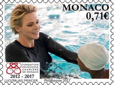 charlene monaco francobollo