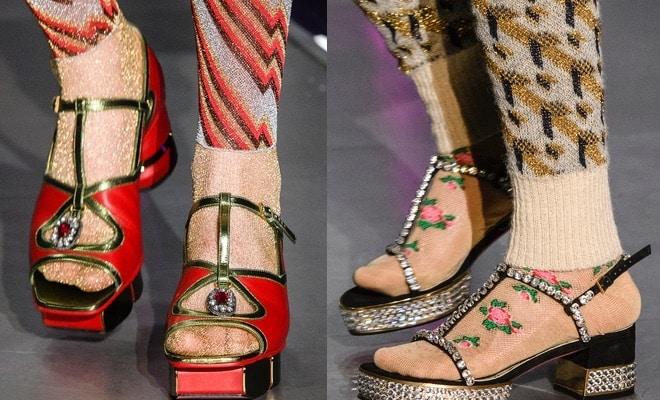 sandali Gucci inverno 2017-2018