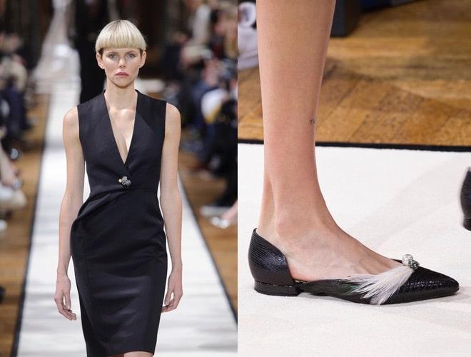 lanvin donna inverno 2018 abito scarpe