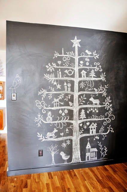 albero di natale disegnato