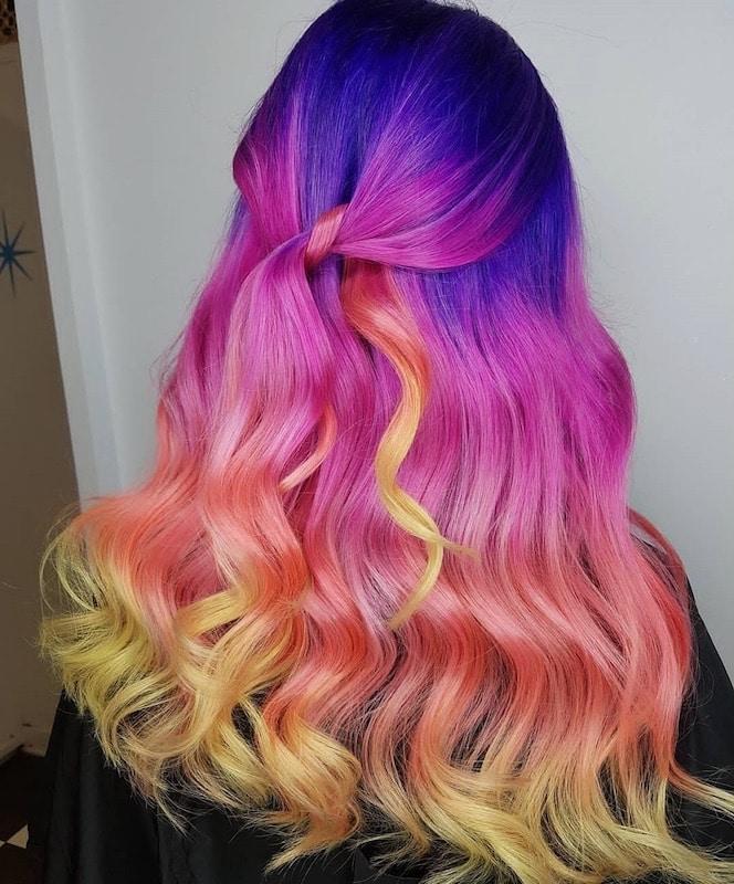 capelli multicolore sposa