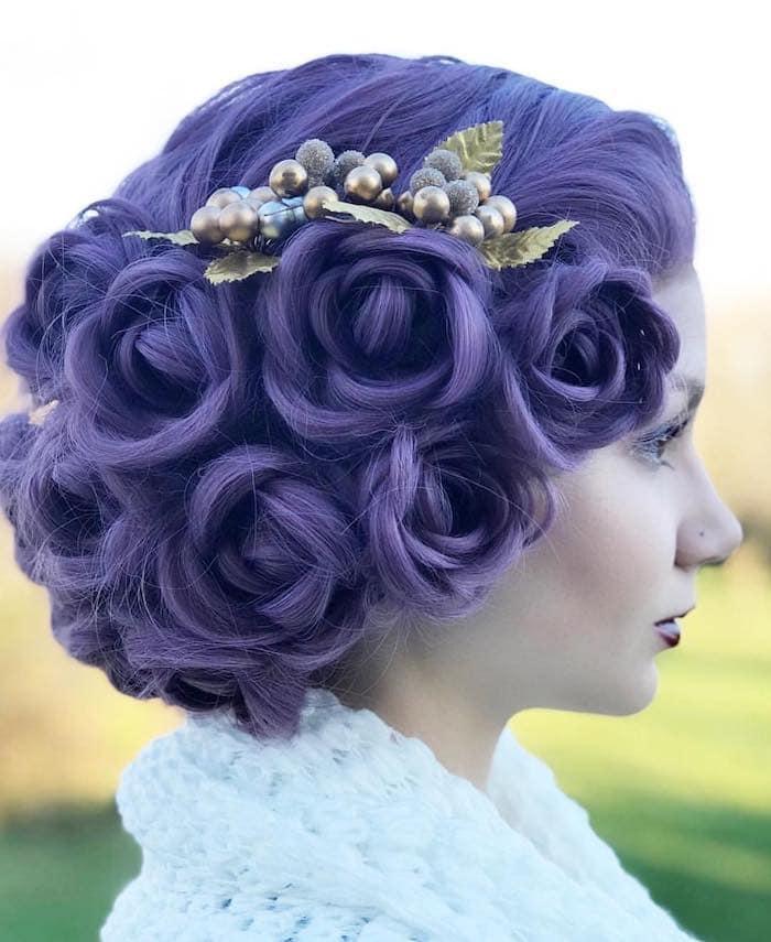 capelli sposa colorati tendenze 2018