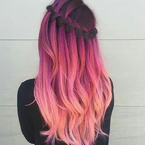 capelli sposa pink ombre