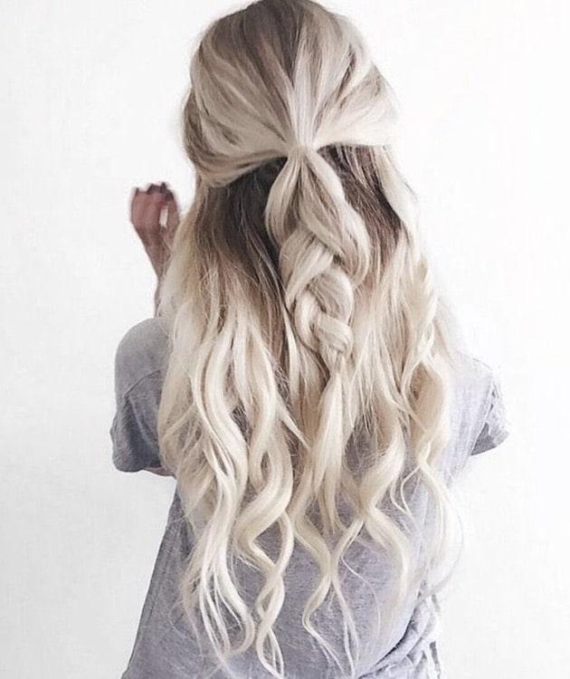 capelli sposa tendenze 2018-biondo platino