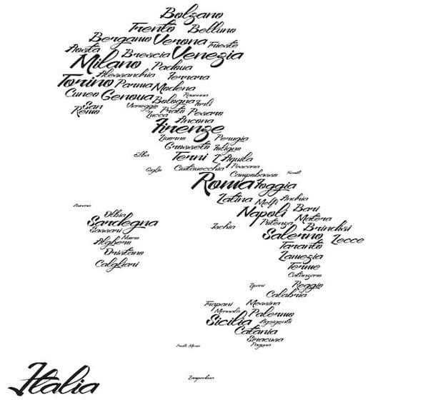 Città italiane rivalità cartina