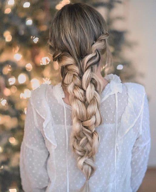 treccia sposa capelli colorati
