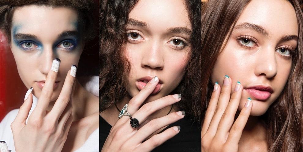 French manicure colorate estate 2018
