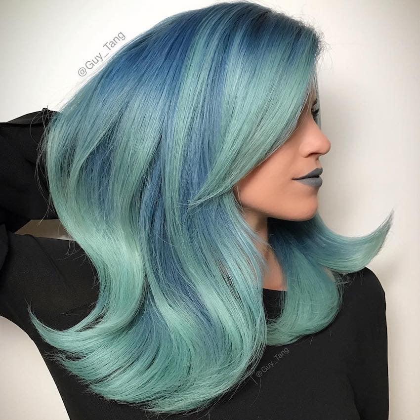 colore capelli estate 2018 verdi e blu