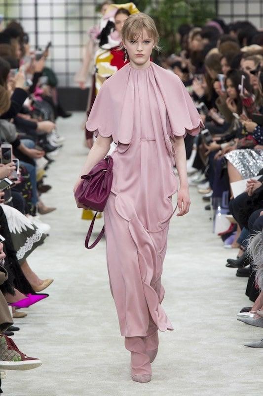 abito Valentino rosa-inverno 2018-2019