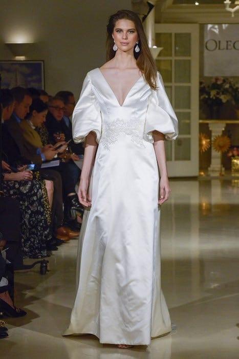 oleg-cassini-abito sposa raso pe 2019