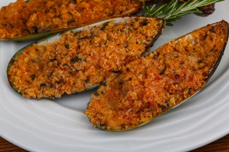 cozze al forno gratinate