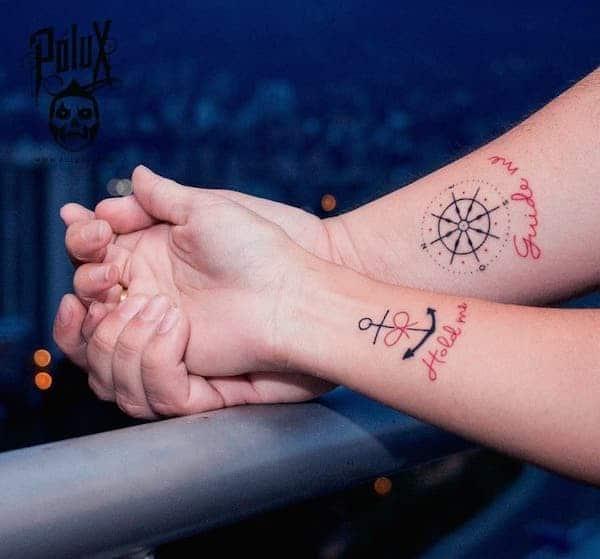 tatuaggio simbolo ancora coppia