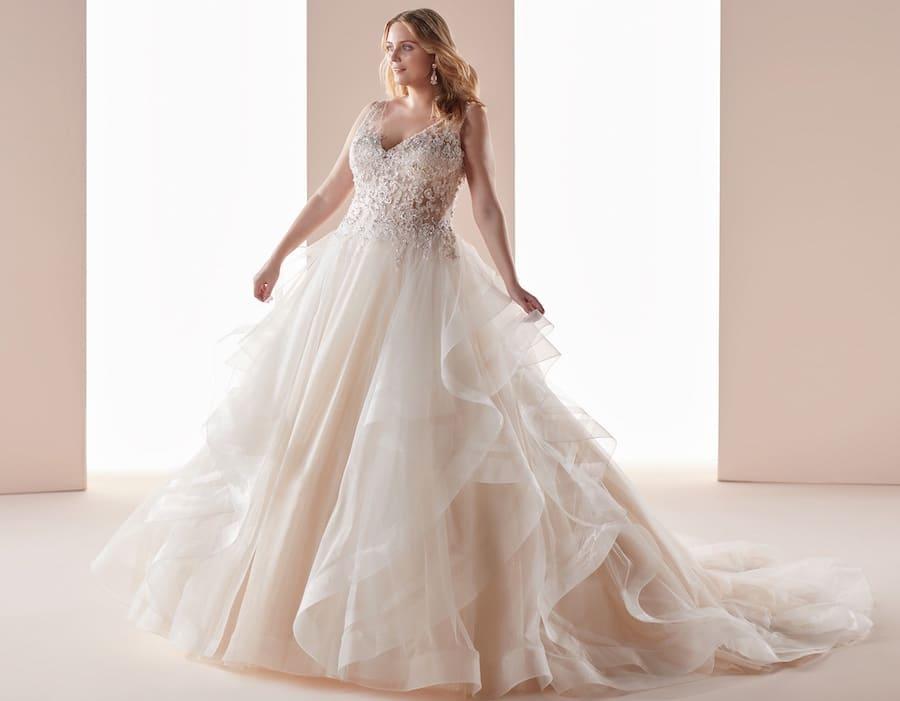 abito sposa taglie forti 2019 nicole