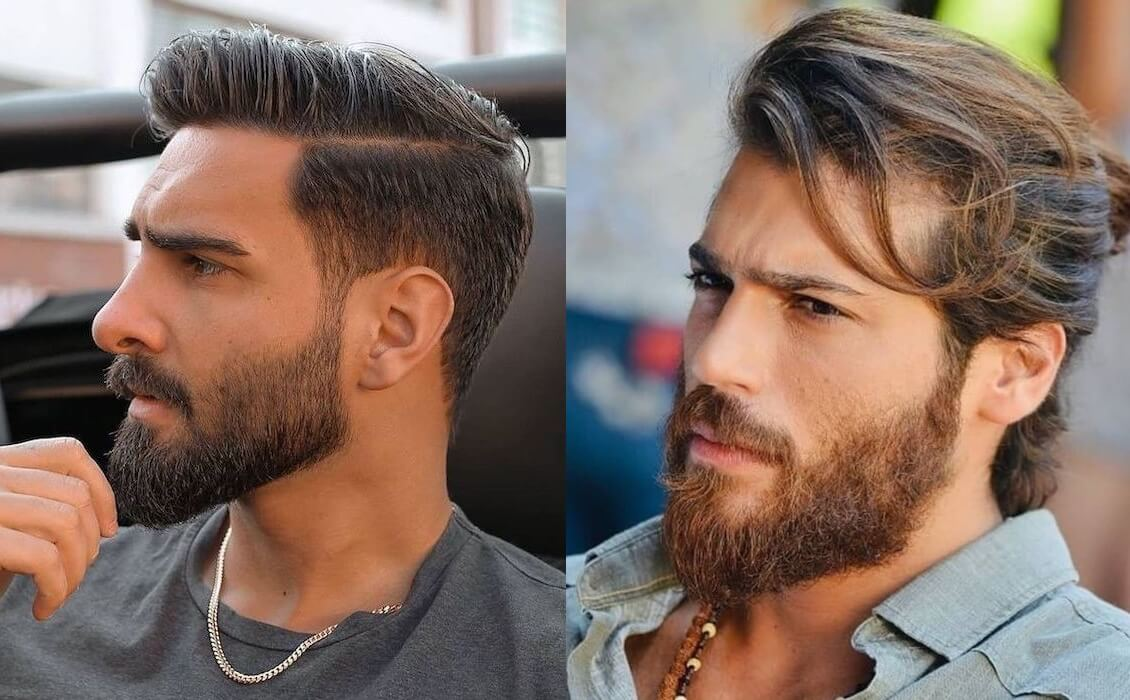 barba lunga taglio capelli uomo 2021