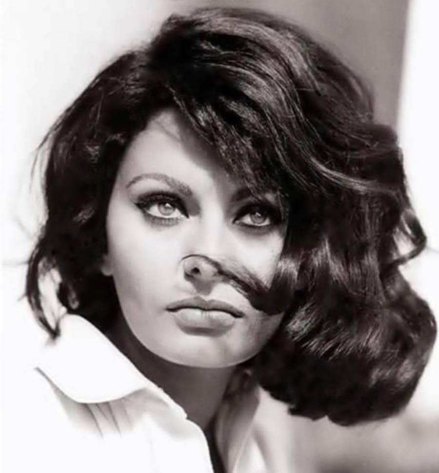 capelli medi mossi inverno 2019-Sophia Loren