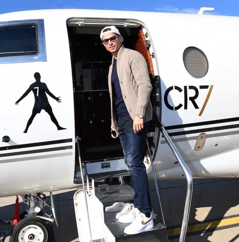 ronaldo aereo privato