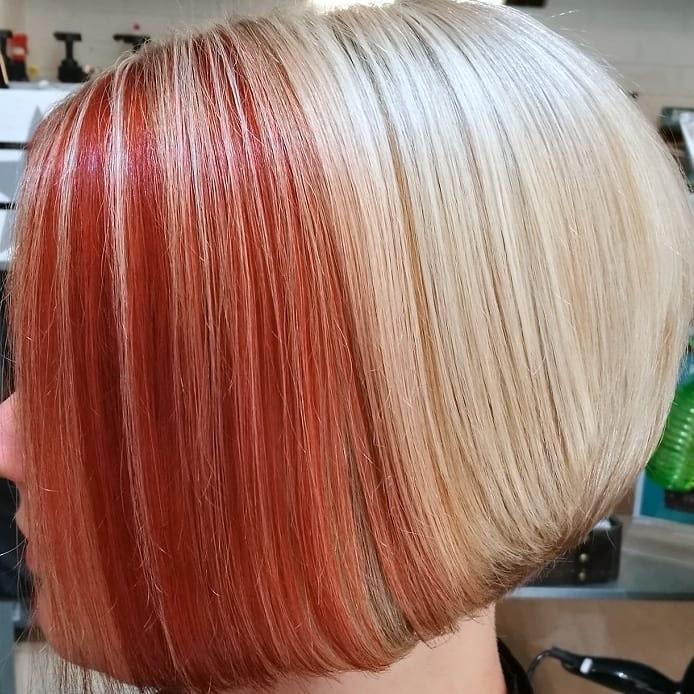 tagli medi capelli colorati inverno 2018-2019