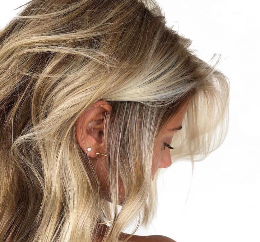 Balayage biondo capelli medi wella