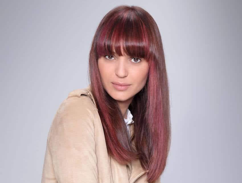 Tagli capelli medi 2019 donne con frangia