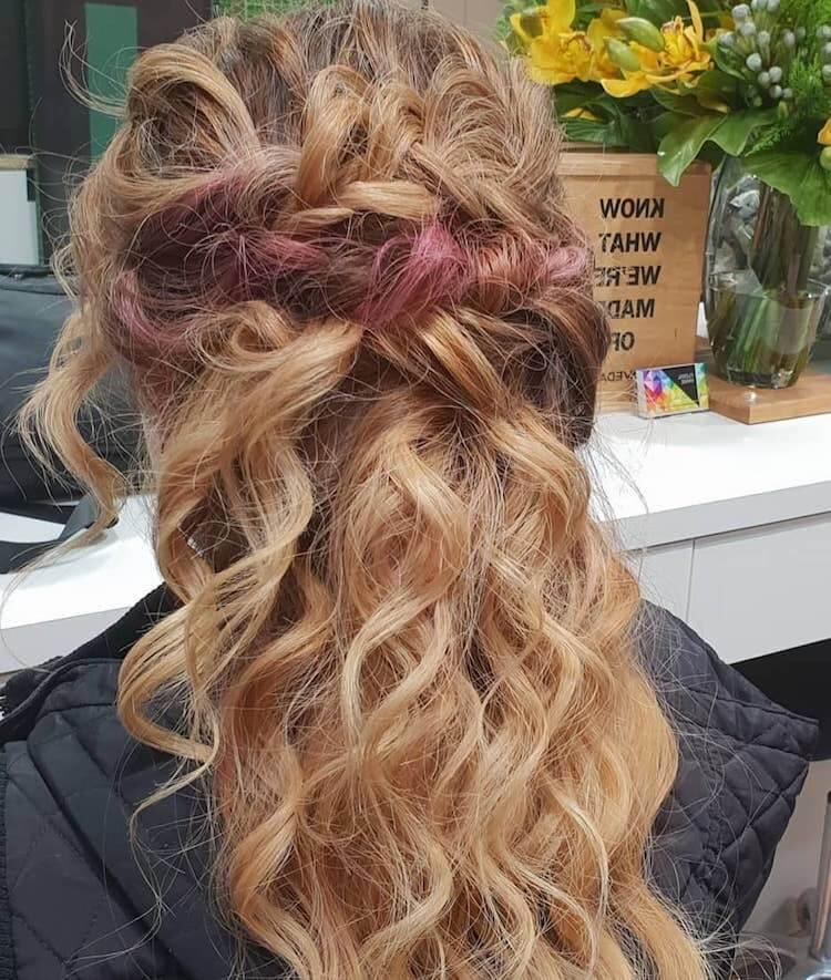 acconciature spose 2019-capelli colorati