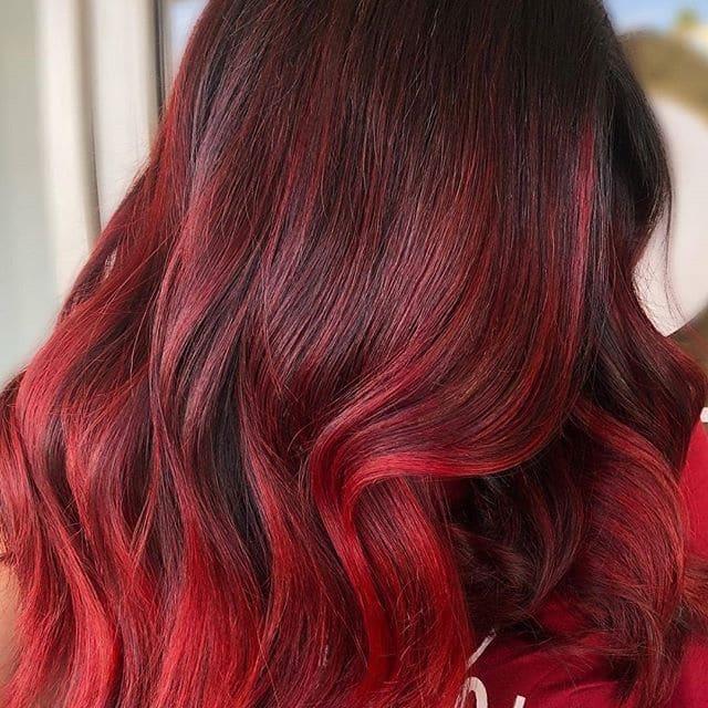 capelli rossi balayage inverno 2019