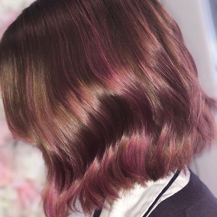 capelli sfumature rosa inverno 2019