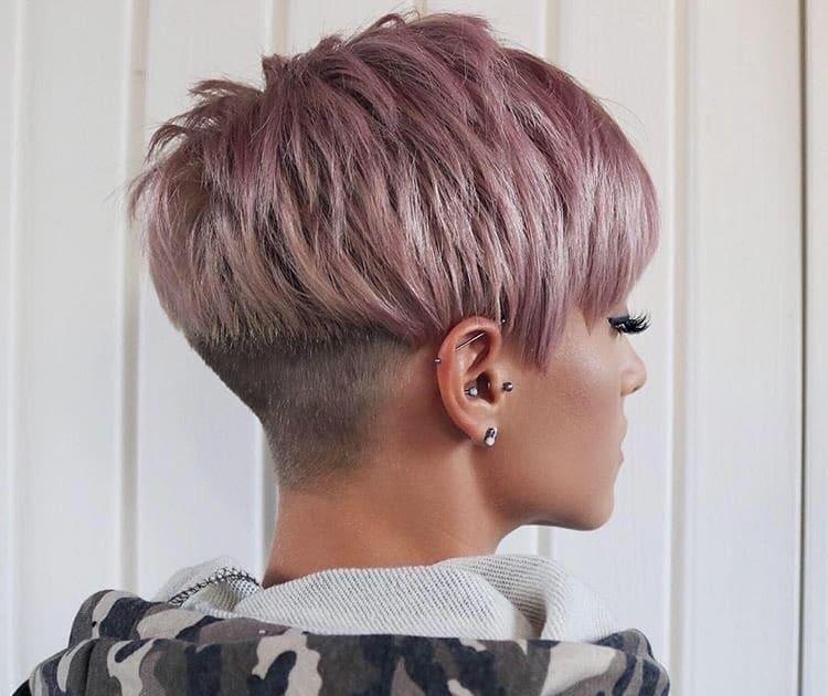 undercut taglio corto capelli colorati 2019