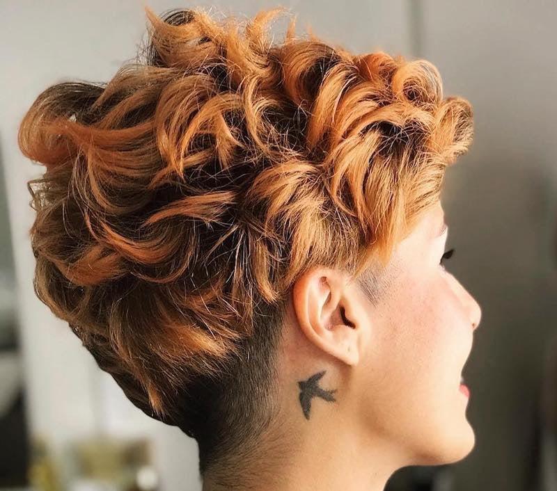 capelli ciocce colorate rame 2019