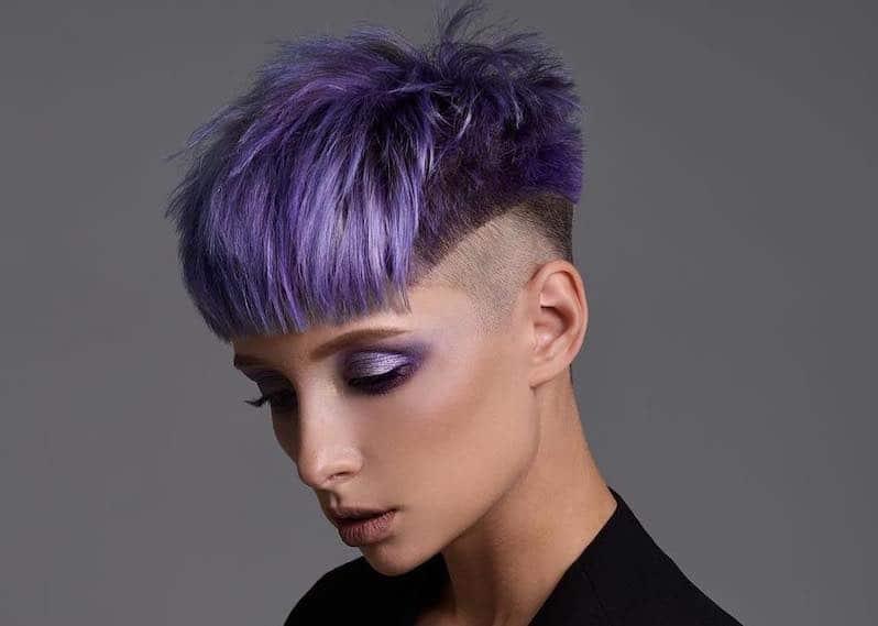 capelli viola corti scalati 2019