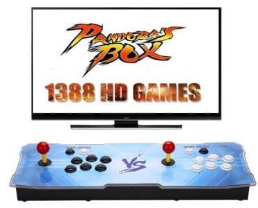 console con giochi vintage