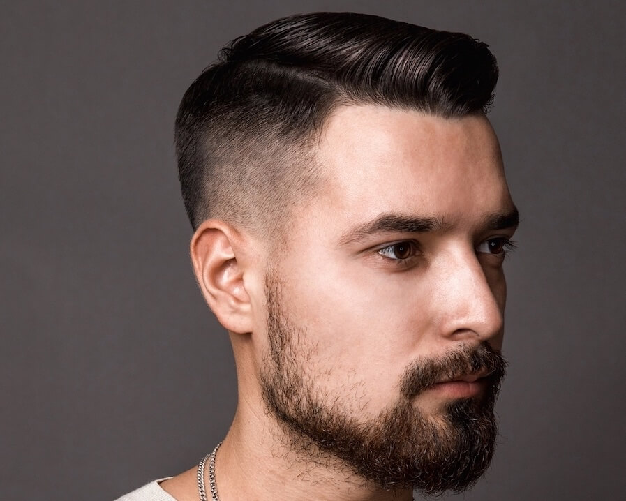 capelli corti uomo 2019- riga-sfumatura 8f9f31018d7e