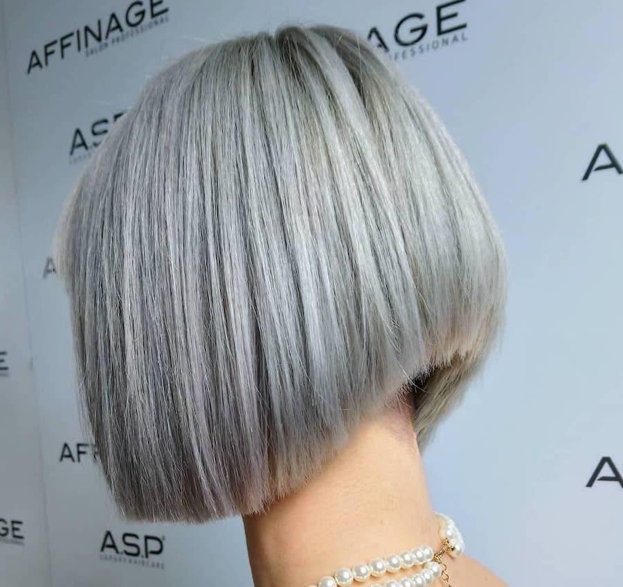 capelli grigi 2019 taglio carre