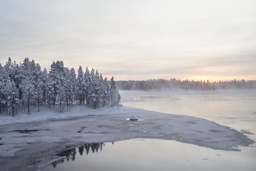 Fiume Paatsjoki nella lapponia finladese