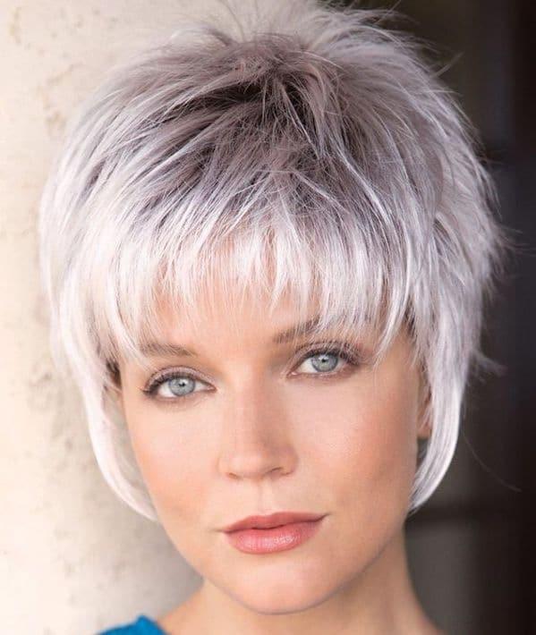 Trucco occhi capelli grigi donna2019