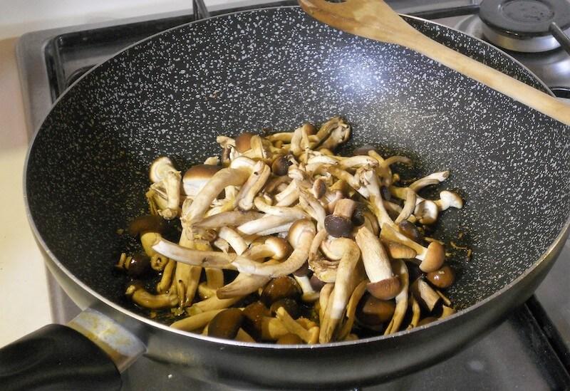 Polenta con funghi e salsiccia 2