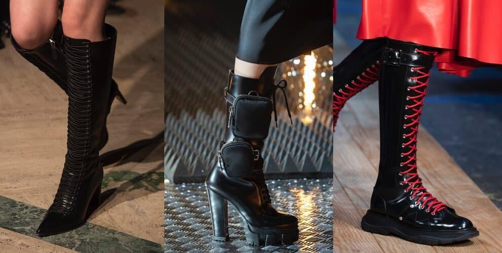 Stivali con lacci moda inverno 2019 2020