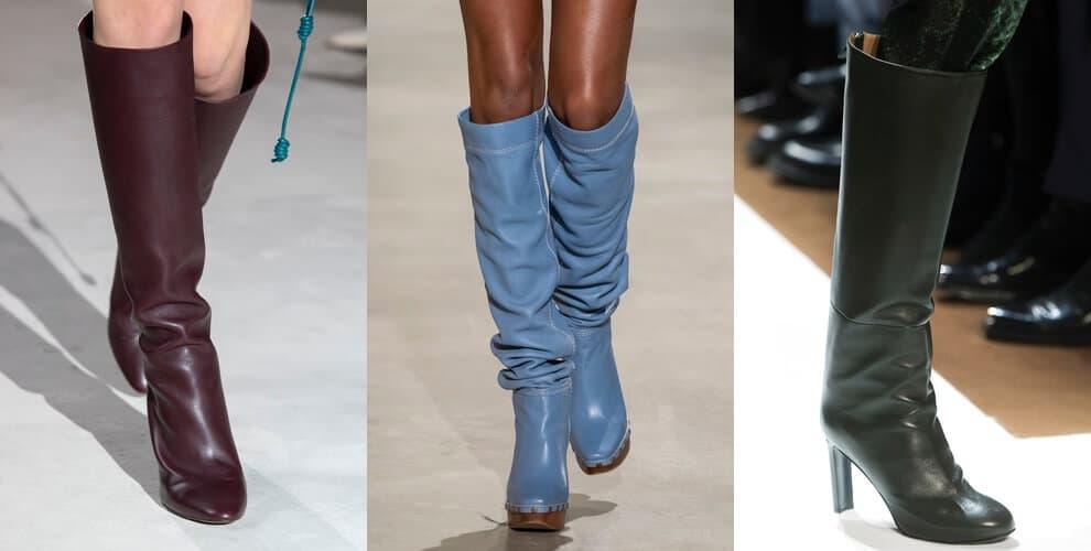 Stivali in pelle scamosciata con tacco medio nel 2020