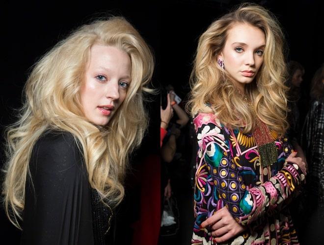 capelli biondi lunghi inverno 2020 sfilate