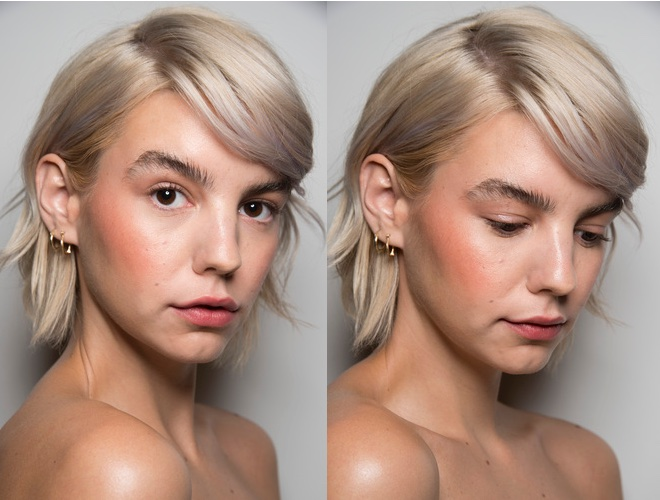 capelli biondo cenerebackstage NY-2020